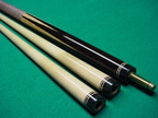 No veneers ebony points Southwest cue